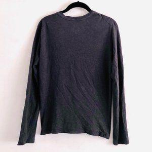 Armani Exchange Shirts - Armani Exchange Gray 3 Button Long Sleeve Top S
